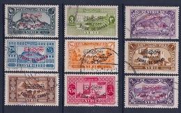 SYRIE - 239A/239K  SERIE FOIRE DE DAMAS OBL USED COTE 35 EUR - Syria (1919-1945)