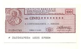 1975 - Italia - Istituto Bancario San Paolo Di Torino - Confesercenti - Torino - [10] Checks And Mini-checks