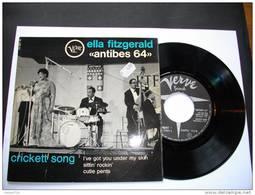 """ELLA FITZGERALD """"ANTIBES 64"""" CRICKETT SONG - VERVE 45 EO MEDIUM 74097 - Jazz"""