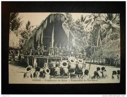 NOUVELLE GUINEE  -  MEKEO - Préparation De Danse - Papouasie-Nouvelle-Guinée