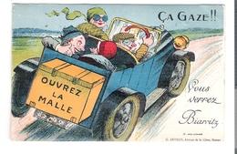 D 64  BIARRITZ    CARTE à SYSTEME..... Ca Gaze   (Voiture) - Cartoline Con Meccanismi