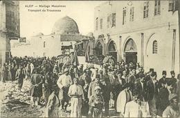 (ALEP )( SYRIE )( RELIGION )( MARIAGE MUSULMAN ) TRANSPORT DU TROUSSEAU - Syrie