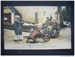 LES PROGRES DE LA LOCOMOTION - A.D. - Cartes Postales