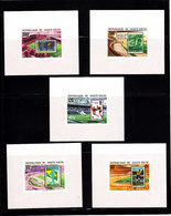 Soccer World Cup 1978 - Football - UPPER VOLTA - 5 S/S De Luxe Imp. Silv Ovp MNH - 1978 – Argentina