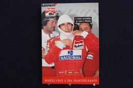 F-238 / Affiche Publicitaire, Malboro - World Championship Team - Ayrton Senna - Rendez-vous à  Spa - Francorchamps - Sportifs
