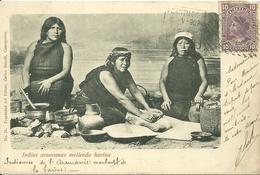 CHILI - Indias Araucanas Moliendo Harina - Indiennes De L' Araucanie Moulant La Farine - Chili