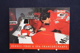 F-241/Affiche Publicitaire,Malboro - World Championship Team, 世界選手権チーム - Ayrton Senna - Rendez-vous à  Spa-Francorchamps - Sportifs