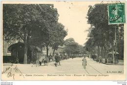 14 CAEN. Top Promotion. Kiosque Tramways électriques Boulevard Saint-Pierre 1908 - Caen
