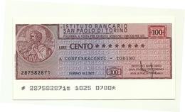 1977 - Italia - Istituto Bancario San Paolo Di Torino - Confesercenti - Torino - [10] Checks And Mini-checks