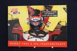 F-242 / Affiche Publicitaire, Malboro - World Championship Team - Ayrton Senna - Rendez-vous à  Spa - Francorchamps - Sportifs