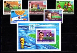 Soccer World Cup 1978 - Football - C.-AFRICA - S/S+Set Imp. Silv Ovp MNH - 1978 – Argentina