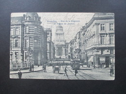 Belgien 1905 PK Mit Versuchtem Postbetrug / Halbierung! Nachporto T Stempel Ak Stempel Baden Nieder Österr. Bestellt - 1893-1900 Schmaler Bart