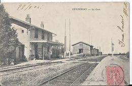 CEYZERIAT La Gare Correspondance  Gendarmerie D'Aignay Le Duc - France