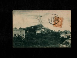 Cartolina Cina The Amoy Signai Station The Arrivals Of The American And Chinese Fleets - With Stamp Not Sent - Cina