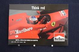 F-245 / Affiche Publicitaire, Malboro - World Championship Team - Ayrton Senna - Rendez-vous à  Spa - Francorchamps - Sport Automobile