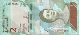 VENEZUELA 2 BOLIVARES 2018 UNC P 101 - Venezuela