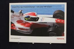 F-249 / Affiche Publicitaire, Toyota  - World Championship Team - Grand Prix Spa  Francorchamps - Sport Automobile