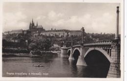 """TCHEQUIE : PRAGUE :  """" Hradcany A Manesuv Most """" Carte Photo - Tchéquie"""