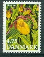 BM Denmark 1990 MiNr 984 MNH | Endangered Flowers, Lady's Slipper - Unused Stamps