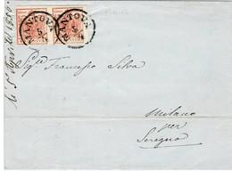 Lomb. Ven. 1856, Brief Mit Paar , #9280 - 1850-1918 Imperium