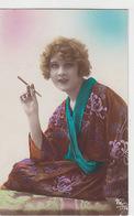 Frau Beim Rauchen  - Handcol. - 1924         (P-179-70915) - Femmes