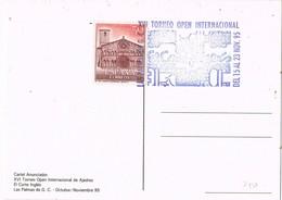33401. Tarjeta LAS PALMAS (Canarias) 1995. XVI Torneo Open AJEDREZ, Corte Inglés - 1931-Hoy: 2ª República - ... Juan Carlos I