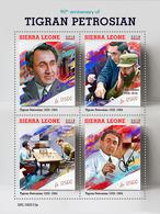 SIERRA LEONE 2019 - T. Petrosian, Fidel Castro. Official Issue - Celebrità