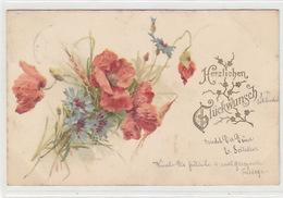 Herzlichen Glückwunsch -  Litho - UPU-Frankatur - 1900      (P-179-70915) - Fêtes - Voeux