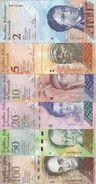 VENEZUELA 2-5-10-20-50-100 BOLIVARES  2007-15 UNC P 88 A 93 ( 6 Billets ) - Venezuela
