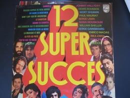 Lot De Cinq Disques 33 Tours 30 Cm:12 Super Succès-Les Plus Belles Chansons Du Siècle-Demis Roussos-Richard Anthony- - Vinyles