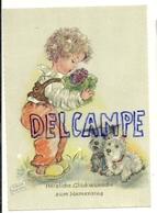 Enfant, Bouquet, Coccinelle Et Deuxpetits Chiens (fox ?) Signée Erna Maison. 1961 - Non Classés