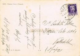 33405. Postal  BISCEGLIE (Bari)  1938. CENSURA Militar VALLADOLID, Guerra Civil - 1931-50 Cartas