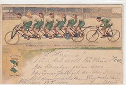 """STYRA - Fahrrad-Reklame - F.Gerber, Champion - Stabstempel """"Neuhausen"""" - 1900      (P-179-70915) - Publicidad"""