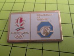 411c  Pin's Pins / Beau Et Rare : THEME : JEUX OLYMPIQUES / ALBERTVILLE 1992 PRALOGNAN LA VANOISE - Olympic Games