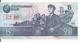 COREE DU NORD 5  WON 1998 UNC P 40 S - Corée Du Nord