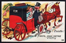 VICHY: Plan TOP Sur Le Fiacre Pour Découvrir Vichy. Carte à Système - Vichy
