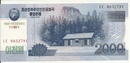 COREE DU NORD 2000 WON 2013 UNC P CS16 - Corée Du Nord