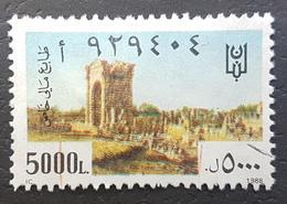 LNPC - Lebanon 1988 5000L Special Fiscal Revenue Stamp (Passport) - Líbano