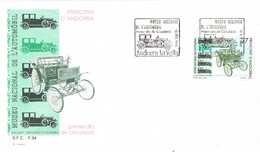 33409. Carta F.D.C. ANDORRA La Vella (Andorra Española) 1992. Museu Del Automobil. AUTOMOVIL - Cartas
