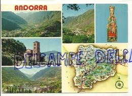 Valls D'Andorra. Mosaïque. Divers Aspects Des Vallées Et La Vierge D'Andorre. 1978 - Andorre