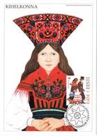 33410. Tarjeta Maxima TARTU (Estonia) Eesti 2013. Traje Tipico KIHELKONNA, Women Costume - Estonia
