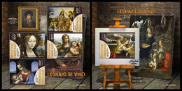 TOGO 2019 - Leonardo Da Vinci, M/S + S/S. Official Issue - Paintings