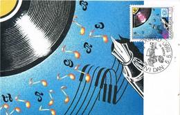 33411. Tarjeta Maxima BEOGRAD (Jugoslavia) 1990. MUSIK, Musica, Eurovision Zagreb - Tarjetas – Máxima