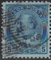 Canada 1903 Used Sc 91 5c Edward VII - 1903-1908 Règne De Edward VII