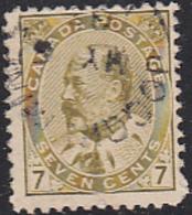 Canada 1903 Used Sc 92 7c Edward VII CDS Joggins Mines, NS - 1903-1908 Règne De Edward VII