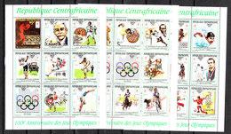 Rep. Centrafricain  - 1993. Anniv, Del CIO. Complete  Series In 3 Minisheets MNH Fresh - Zomer 1992: Barcelona