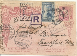 Turkey; Ottoman Lettercard Used As A Formular By Adding Stamps - Storia Postale