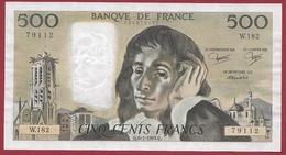 """500 Francs """"Pascal"""" Du 06/01/1983.Q ----VF/SUP-----ALPH W.182 - 1962-1997 ''Francs''"""