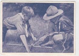 Pfadfinder Beim Knoten-Ueben - 1940       (P-179-70921) - Scoutisme