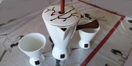 """Chocolatière Porcelaine Modèle """"Kakaoline"""", Chocolatière Avec 2 Tasses. Collection DAUDI Limoges - Dishware, Glassware, & Cutlery"""